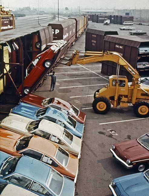 необчный способ перевозить автомобили США автомобилей Фото 05