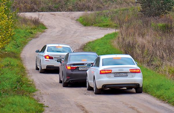Audi A6 vs Bmw 5 серии vs Lexus ES350-5
