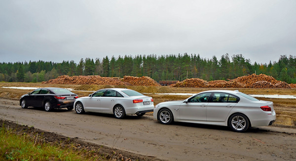 Audi A6 vs Bmw 5 серии vs Lexus ES350