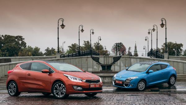 Kia pro_cee'd и Renault Megane Coupe