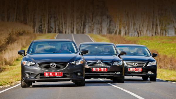 Mazda6, Toyota Camry и Skoda Superb