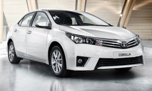Next year's European-style Corolla sedan. Overseas model shown.