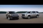 2015 GMC Yukon Denali (L) and Yukon XL SLT